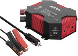 Bestek 400 watts power inverter - modified sine wave - four USB connections