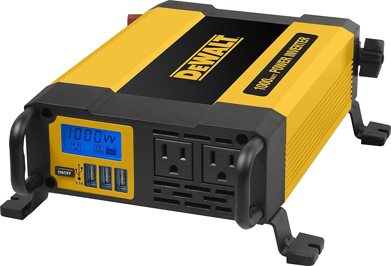DeWalt 1000W Inverter - Portable 12V DC 110V AC inverter