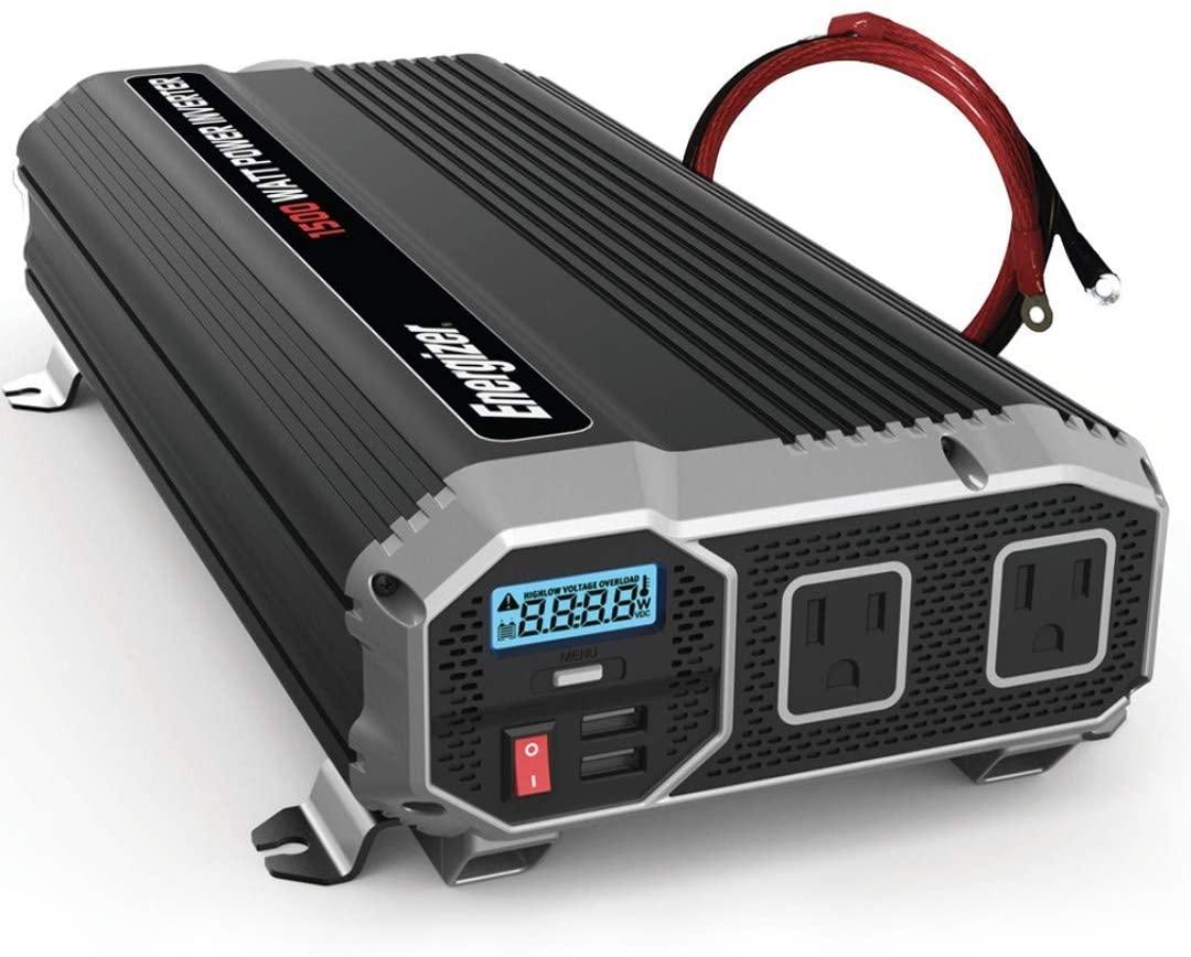 Energizer 1500 Watts Power Inverter - 110V AC and USB Ports