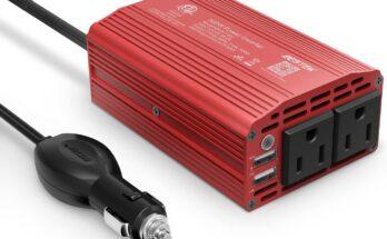BESTEK 300W Power Inverter - top inverters for vehicles