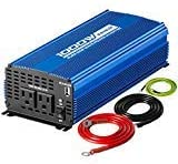 Kinverch 1000W Pure Sine Wave Inverter DC 12V to AC 110 V Car Power Inverter with Dual AC Outlets & 2A USB Ports