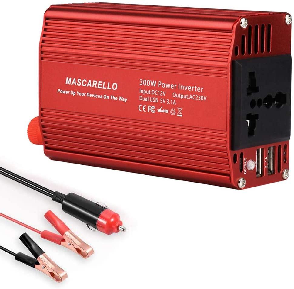 COMLZD 300W Power Inverter DC 12V to 110V AC with 3.2A Dual USB Charging Port