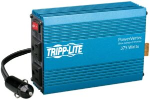 Tripp Lite 375W Car Power Inverter with 2 Outlets, Auto Inverter